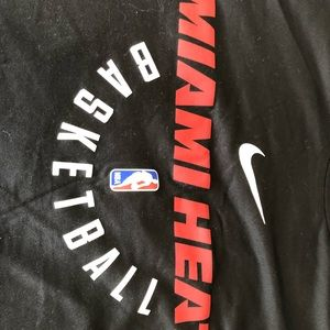 b652e06e Nike Shirts | Miami Heat Mens Long Sleeve Dry Fit Warmup T | Poshmark